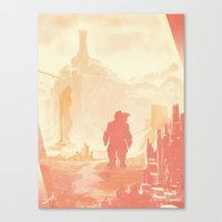 dragon age Canvas Prints featuring Dragon Age: Varric by Sara Cuervo