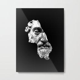 MARCUS AURELIUS ANTONINUS AUGUSTUS / White Metal Print