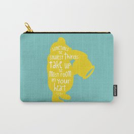 Sometimes the Smallest things - Winnie the Pooh inspired Print Carry-All Pouch