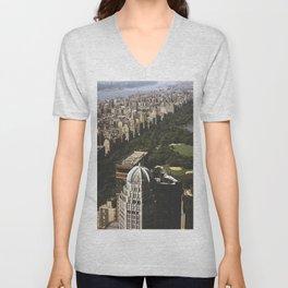 Central Park and New Yorks Upper West Side Unisex V-Neck