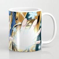 camus Mugs featuring Aquarius Camus-God Cloth by Studio Kawaii