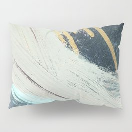 Karma: a bold abstract in blues and gold Pillow Sham