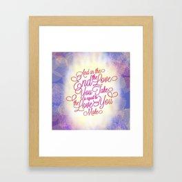 TYPOGRAPHY DESIGN Framed Art Print