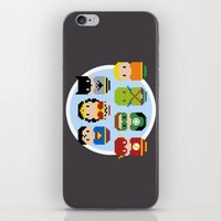 justice league iPhone & iPod Skins featuring Pixel Art - Justice League of America parody by Cloudsfactory