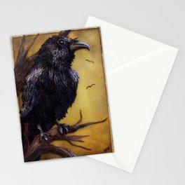 The Raven - polymer clay painting/lightbox Stationery Cards