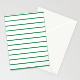 Kelly Green Breton Stripes Stationery Cards