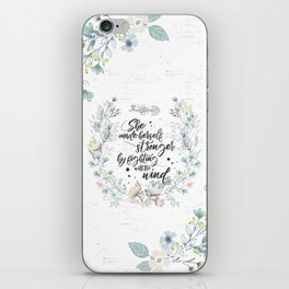 The Secret Garden - She Made Herself Stronger iPhone Skin