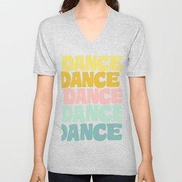Dance in Candy Pastel Lettering Unisex V-Neck