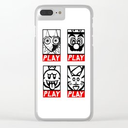 Video Game Collection Clear iPhone Case