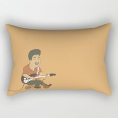 Muddy Waters riding a small bicycle Rectangular Pillow