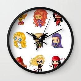 Chibi Heroines Set 3 Wall Clock