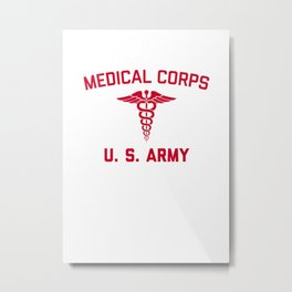 US Army Medical Corp  WW Vintage PT Medic Training T Shirt Metal Print