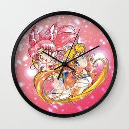 Super Sailor Moon & Chibi Moon (edit 2/A) Wall Clock