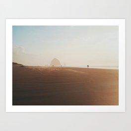 Golden hour at Cannon Beach Art Print