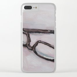 reading glasses Clear iPhone Case