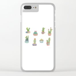 Cactus and succulents Clear iPhone Case