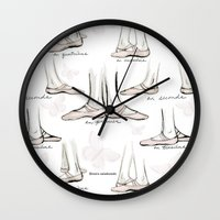 ballet Wall Clocks featuring Ballet by Moira Birch Swiatkowski
