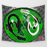 ying yang Wall Tapestries featuring ying yang by Nerd Artist DM
