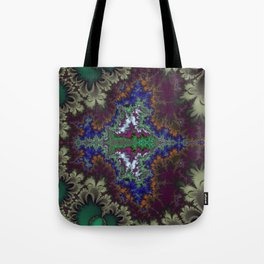 Fractal Stingray Tote Bag