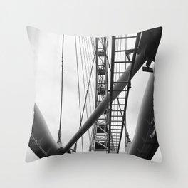 Fly Wheel Throw Pillow
