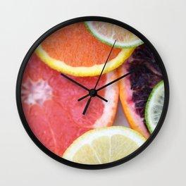 sliced citrus party Wall Clock