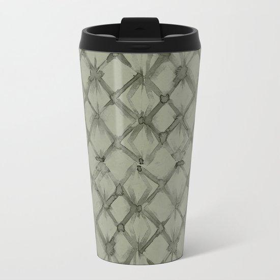Braided Diamond Simply Green Tea Metal Travel Mug