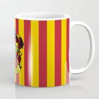 hogwarts Mugs featuring Gryffindor - Hogwarts  by Kesen