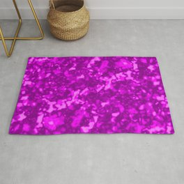 A chaotic cluster pink bodies on a light background. Rug
