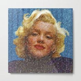 In the Blue Room Portrait by Jeanpaul Ferro Metal Print