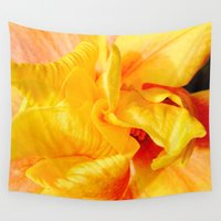 hibiscus Wall Tapestries featuring Hibiscus by magentaRaven