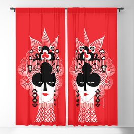 The Queen of clubs Blackout Curtain
