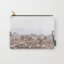 Joshua Tree // Vintage Desert Landscape Cactus Southwest Mountains Carry-All Pouch