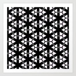 Multi Pattern Black and White Design Art Print