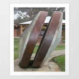 Chilean Mill Wheels Art Print