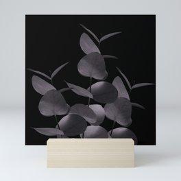 Eucalyptus Leaves Black Black #1 #foliage #decor #art #society6 Mini Art Print