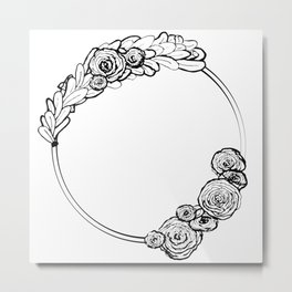 Modern Wreath Metal Print