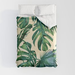Tropical Island Republic Green on Linen Comforters