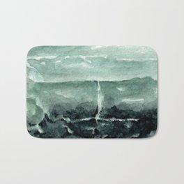 Green Calcite Crystal Watercolor Bath Mat