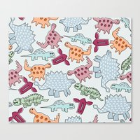 dinosaurs Canvas Prints featuring Dinosaurs  by MadexDesigns