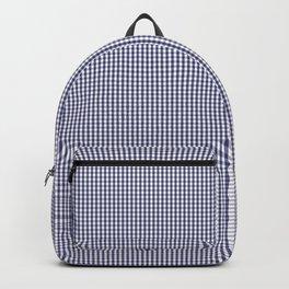 USA Flag Blue Mini Gingham Check Backpack