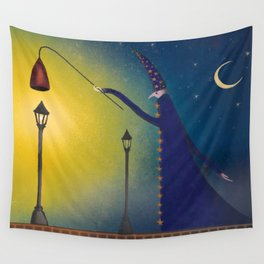 Night Wizard Wall Tapestry
