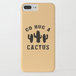 Hug A Cactus Funny Offensive Saying iPhone Case