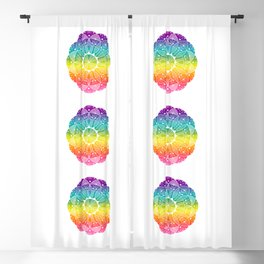 Pride Rainbow Gradient Mandala Blackout Curtain