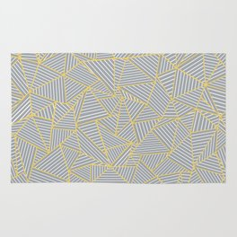 Ab Outline Gold and Grey Rug
