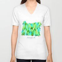 portland V-neck T-shirts featuring Portland by Maura McGonagle