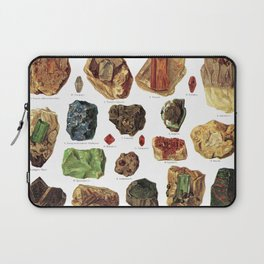 Vintage Gems And Minerals Laptop Sleeve