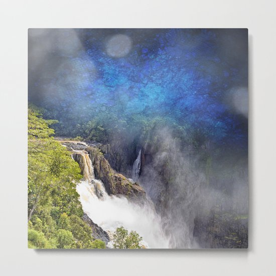 Wild waterfall in abstract Metal Print