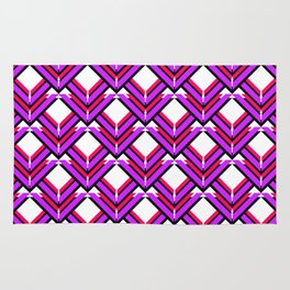 Purple Red Orange Pattern Rug