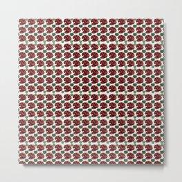 Garnets and fractal hearts Metal Print