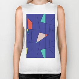 Pattern on a dark background with bright elements and thin lines Biker Tank
